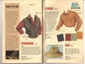 Banana Republic Catalog 37 Fall 1988 Herringbone Vest, Cellular Shirt, Rain Hat