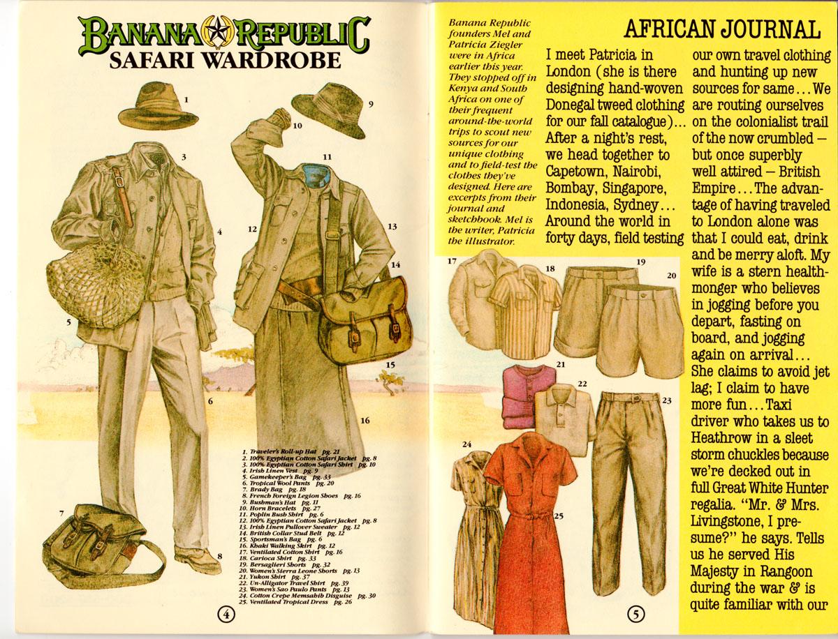 Banana Repubic Catalog No. 19: African Safari – Abandoned ...