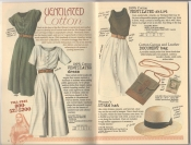 Banana Republic Summer 1987 No. 32 Ventilated Dress, Ventilated Skirt, Document Bag, Women's Straw Hat