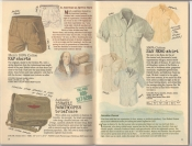 Banana Republic Summer 1987 No. 32  Men's RAF Shorts, Israelie Paratrooper Briefcase, San Remo Shirt