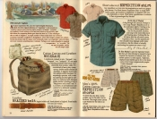 Banana Republic Summer 1987 No. 32  Rucksack, Braided Belt, Short Sleeved Expedition Shirt, Expedition Shorts