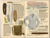 Banana Republic Summer 1987 No. 32  Populist Pants, Haversack, White-Collar Workshirt, Wrapped-Buckle Belt