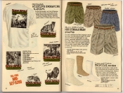 Banana Republic Summer 1987 No. 32 Olde English Wildlife Engraving T-Shirts, Mediterranean Shorts, Tropical Socks