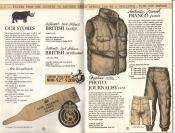 Banana Republic Catalog No. 16 Holiday 1983 British Civil Defence, Photojournalist Vest, Franco Pants