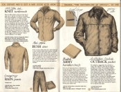 Banana Republic Catalog No. 16 Holiday 1983 Knit Turtleneck, Bush Shirt, Rain Pants, BritishArmy Handkerchief, Outback Jacket