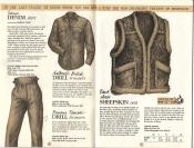 Banana Republic Catalog No. 16 Holiday 1983 Sierra Denim Shirt, Drill Trousers, Sheepskin Vest