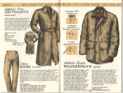 Banana Republic Catalog No. 16 Holiday 1983 French Lieutenant's Raincoat, Khaki Trousers, Weatherproof Jacket