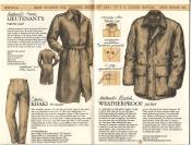 Banana Republic Catalog No. 16 Holiday 1983 French Lieutenant\'s Raincoat, Khaki Trousers, Weatherproof Jacket