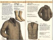 Banana Republic Catalog No. 16 Holiday 1983 Artist's Sweater, G.I. Ski Socks, Wool Windbreaker, Musician's Vest