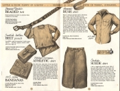 Banana Republic Catalog No. 16 Holiday 1983 BR Beaded Belt, Swedish Leather Belt Pouch, Bandanas, Women's Bush Shirt, Suede Skirt