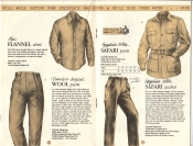 Banana Republic Catalog No. 16 Holiday 1983 Flannel Shirt, Traveler\'s Tropical Wool Pants, Safari Jacket, Safari Pants