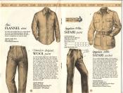 Banana Republic Catalog No. 16 Holiday 1983 Flannel Shirt, Traveler\'s Tropical Wool Pants, Safari Jacket, Safari Pants