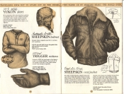 Banana Republic Catalog No. 16 Holiday 1983 Yukon Shirt, Banana Republic Shirt, Arctic Sheepskin Helmet, Trigger Mittens, Sheepskin Vest/Jacket