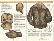 Banana Republic Catalog No. 16 Holiday 1983 Yukon Shirt, Banana Republic Shirt, Arctic Sheepskin Helmet, Trigger Mittens, Sheepskin Vest/Jacket