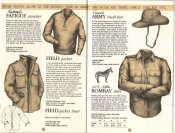 Banana Republic Catalog No. 16 Holiday 1983 Field Jacket, Fatigue Sweater, French Army Bush Hat, Bombay Shirt