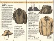 Banana Republic Catalog No. 16 Holiday 1983 Writer\'s Sweater, Gurkha Hat, Mr. Brady\'s Traveler\'s Bag, Chamois Shirt