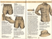Banana Republic Catalog No. 16 Holiday 1983 French Army Shorts, French Foreign Legion Shoe, Burma Drill Shorts, Safari Shirt, Desert Hat