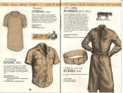 Banana Republic Catalog No. 16 Holiday 1983 Norwegian String Vest, US Army Khaki Shirt, Bombay Shirt Dress, Burma Belt