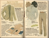Banana Republic Spring 1987 Traveler's Sportcoat, Traveler's Shirt, Traveler's Trousers, Passport Case