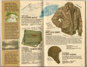 Banana Republic Spring 1987 Aviator's Scarf,  Israeli Paratrooper Briefcase, Army Air Corps Jacket, Flight Helmet