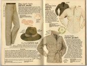 Banana Republic Spring 1987 Safari Pants, Safari Jacket, Safari Hat, Safari Shirt