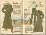 Banana Republic Spring 1987 Women's Safari Jacket, Safari Pants, Safari Skirt