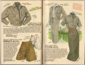 Banana Republic Spring 1987 Battle Jacket, Memsahib Shorts, Strider Skirt