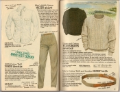 Banana Republic Spring 1987 Men's White Shirt, Dress Khakis, Fisherman's Sweater, Money Belt