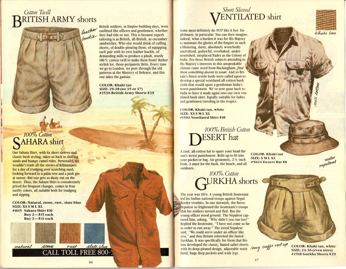 Banana Republic #21  Christmas British Army Shorts, Sahara Shirt, Ventilated Shirt, Deseert Hat, Gurkha Shorts