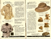 Banana Republic #21 Christmas 1984 Chamois Shirt, Safari Shirt, Australian Fur Felt Bushman's Hat