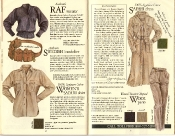 Banana Republic #21 Christmas 1984 RAF Sweater, Swedish Bandolier, Women\'s Safari Shirt, Safari Dress, Traveler\'s Tropical Wool Pants