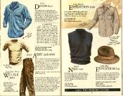 Banana Republic #21 Christmas Sierra Denim Shirt, Canadian Army Winter Pants, British Army Undershirt, Expediation Shirt, British Navy Vest, Expedition Hat