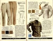 Banana Republic #21 Christmas Tropical Wool Pants, Australian Outback Shirt, Platonic Shirt
