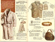 Banana Republic #21 Christmas 1984 Handcrafted Raincoat, Tattersall Scarf, Hooded Bush Vest, British Regiment Belt, Gamekeeper\'s Bag