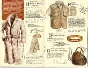 Banana Republic #21 Christmas 1984 Handcrafted Raincoat, Tattersall Scarf, Hooded Bush Vest, British Regiment Belt, Gamekeeper\'s Bag
