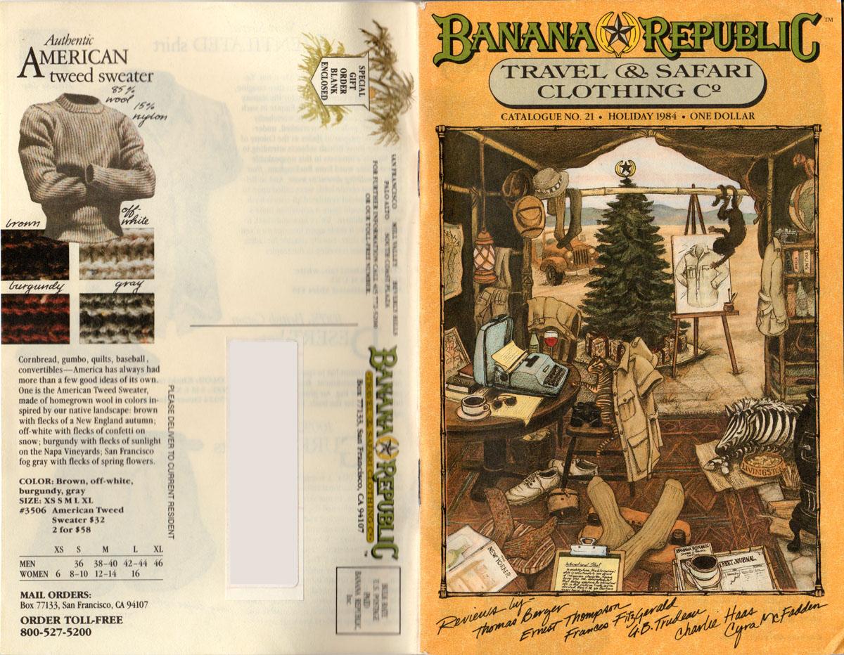 Banana Republic #17  Christmas 1984 American Tweed Sweater
