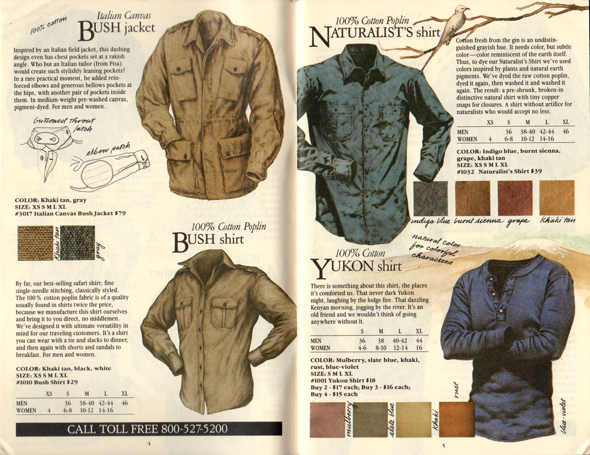 Banana Republic #17  Christmas 1984 Bush Jacket, Bush Shirt, Naturalist's Shirt, Yukon Shirt