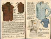 Banana Republic Holiday 1985, Leather Bush Vest, Denim Shirt, BR Logo Shirt