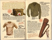 Banana Republic Holiday 1985, Red Cross Medic's Bag, British Army Undershirt, French Commando Sweater, Swiss Army Tube, Surplus