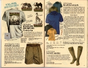 Banana Republic Holiday 1985, Old English Wildlife Engraving T-Shirts, Safari Shorts, Safari Socks, No-Polo shirt, Roy Blount Testimonial