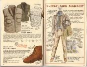 Banana Republic Holiday 1985, Bush Vest, Hiking Boot, Supply Side Marxist Gift Type