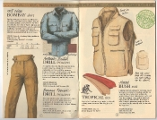 Banana Republic Catalog 17 Winter 1984, Bombay Shirt, Drill Trousers, Tropical Ties, Hooded Bush Vest