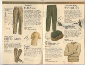 Banana Republic Catalog 17 Winter 1984, Blitz Pants, British Army Socks, Undershirt, Italian Fisherman's Sweater, Canadian Winter Pants, Shearling Arctic Hat