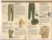 Banana Republic Catalog 17 Winter 1984, Blitz Pants, British Army Socks, Undershirt, Italian Fisherman\'s Sweater, Canadian Winter Pants, Shearling Arctic Hat
