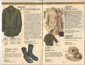 Banana Republic Catalog 17 Winter 1984, Weatherproof jacket, Field Jacket, French Navy Socks, Safari Rain Hat