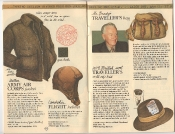 Banana Republic Catalog 17 Winter 1984, Army Air Corps Jacket, Flight Helmet, Mr. Brady's Traveller's Bag, Traveller's Roll-Up Hat