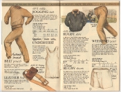 Banana Republic Catalog 17 Winter 1984, Jogging Suit, Belt Pouch, Leather Belt, Undershirts, Rugby Shirt, Rugby Shorts, Weekend Pant