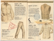Banana Republic Catalog 17 Winter 1984, Safari Jacket, Safari Pants, Safari Shirt, Irish Linen Vest