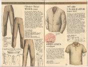 Banana Republic Catalog 17 Winter 1984, Tropical Wool Pant, Un-Alligator Shirt, Irish Linen Shirt