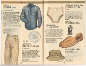 Banana Republic Catalog 17 Winter 1984, Sierra Denim Shirt, British Army Trousers, British Army Brief, Huarache, Desert Hat